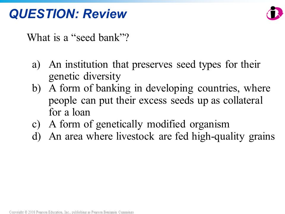 QUESTION: Review What is a seed bank