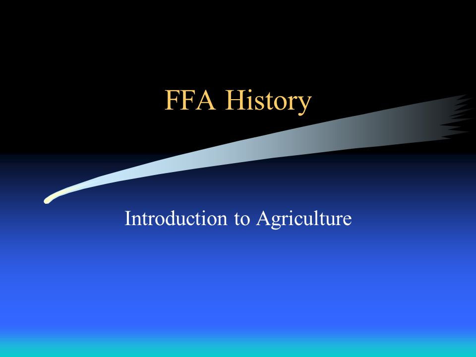 Introduction to Agriculture