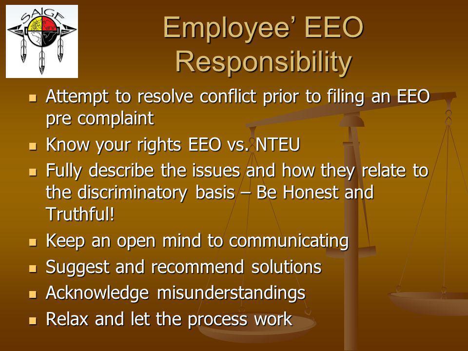 Employee' EEO Responsibility