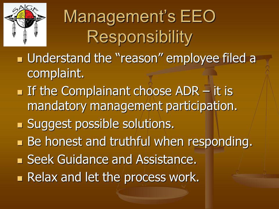 Management's EEO Responsibility