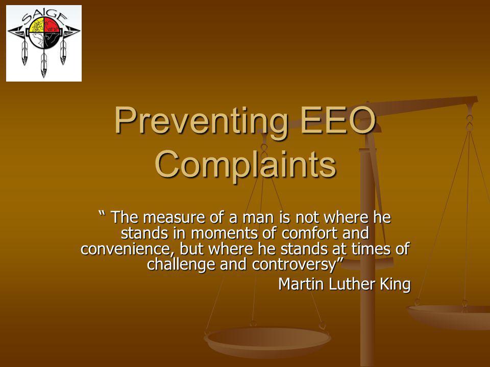 Preventing EEO Complaints