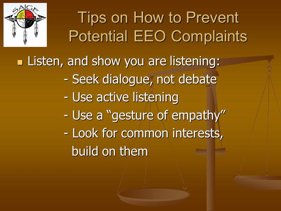 Tips on How to Prevent Potential EEO Complaints