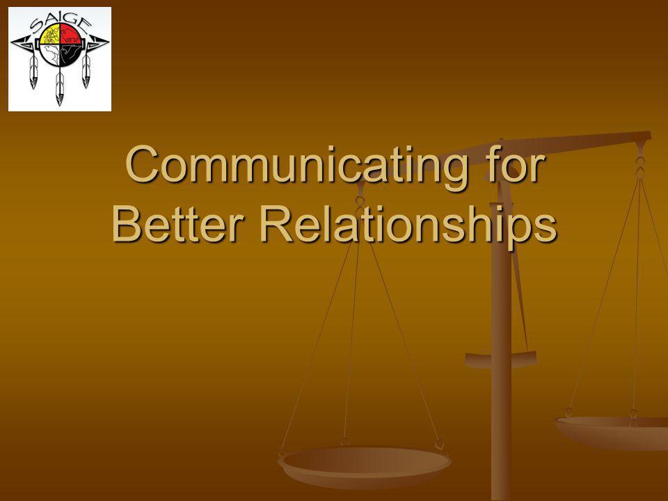 Communicating for Better Relationships