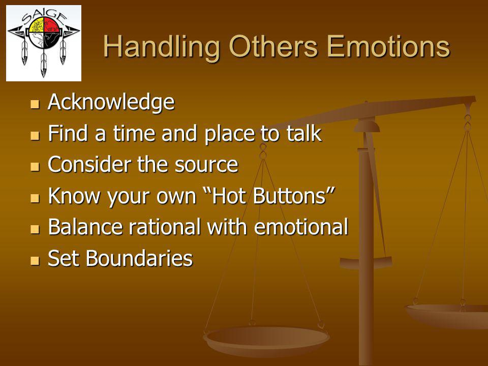 Handling Others Emotions