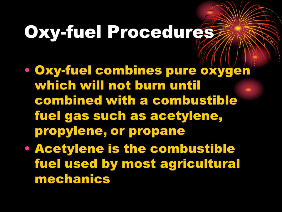 Oxy-fuel Procedures