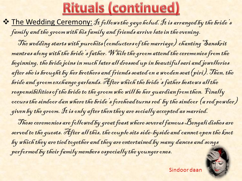 Rituals (continued)