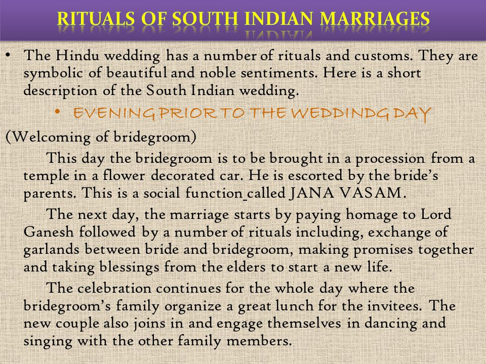 Rituals of South Indian Marriages