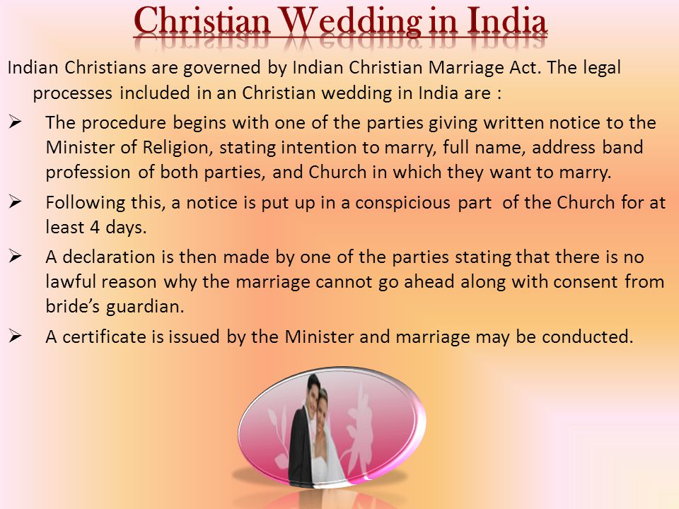 Christian Wedding in India