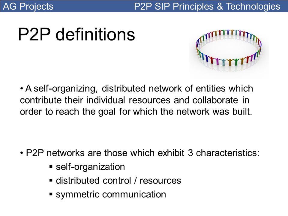 P2P definitions
