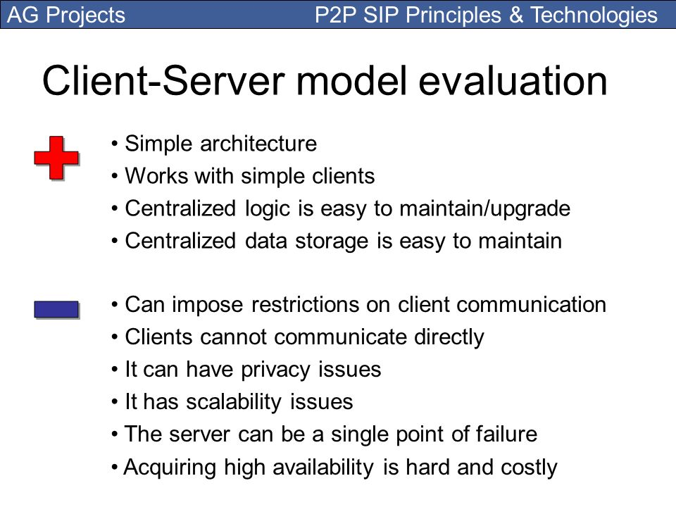 Client-Server model evaluation