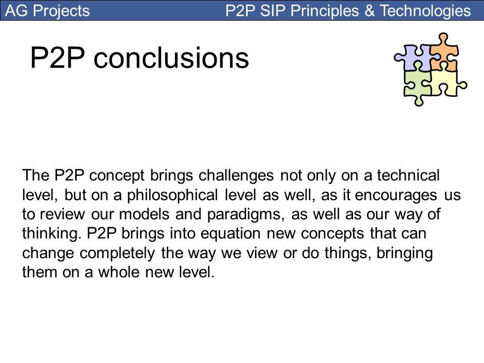 P2P conclusions
