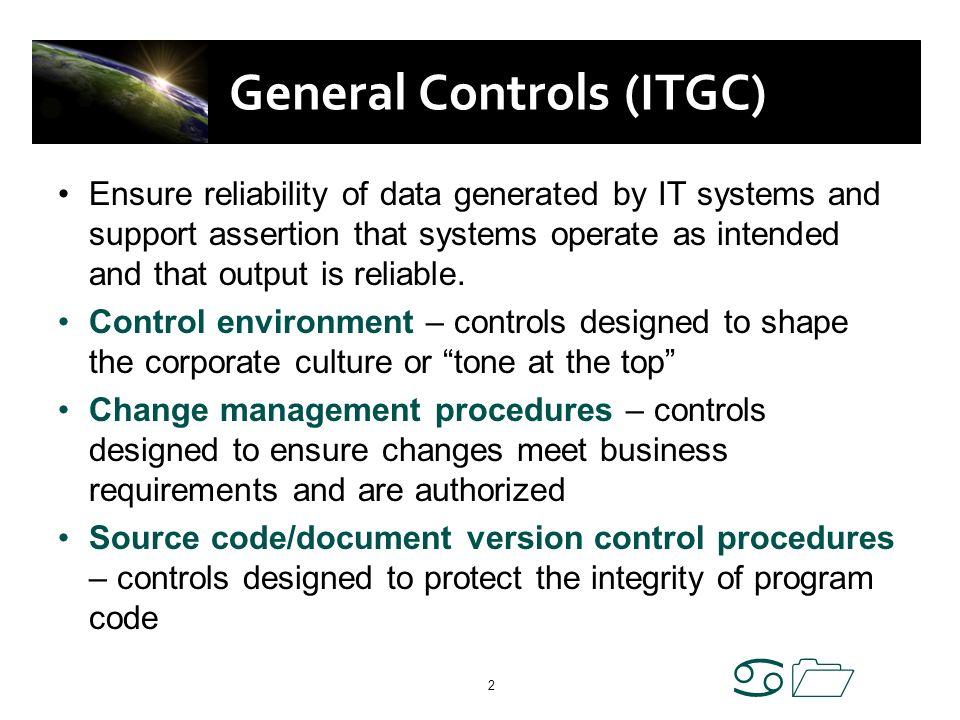 General Controls (ITGC)