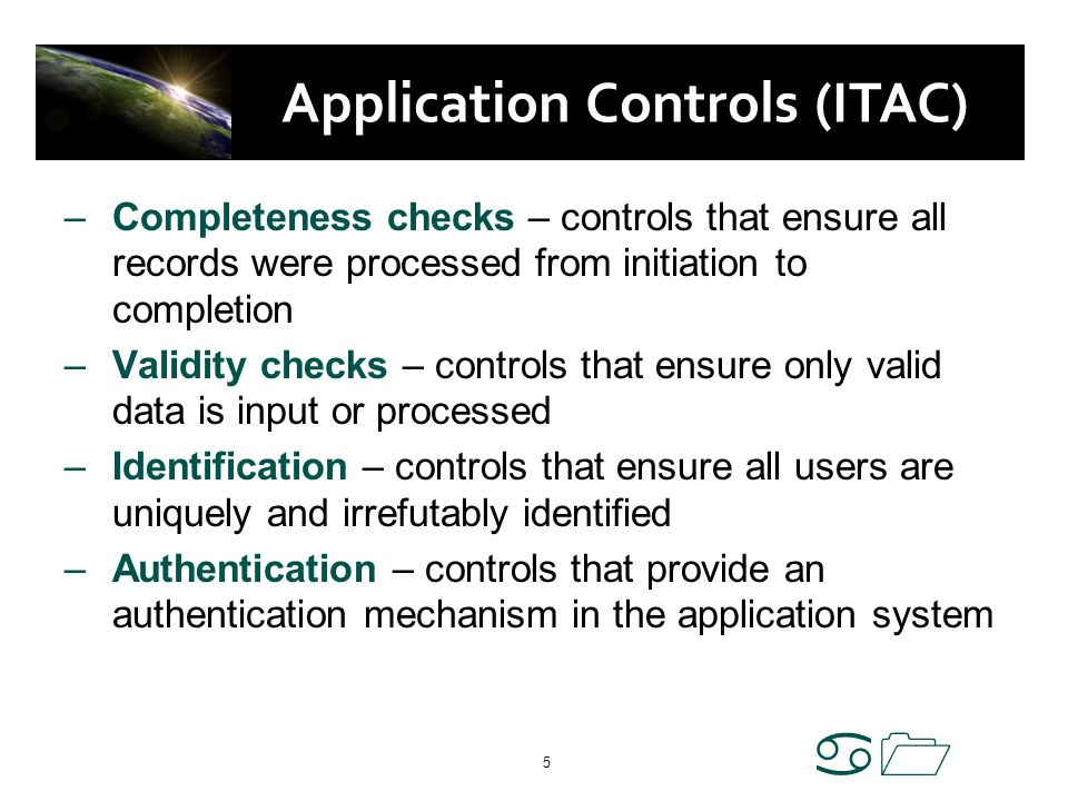 Application Controls (ITAC)