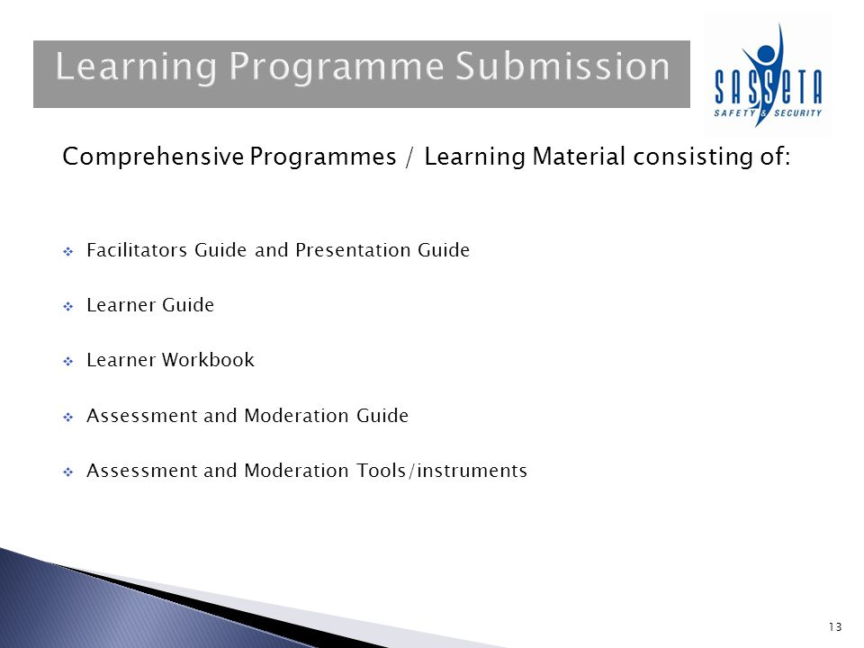 Learning Programme Submission