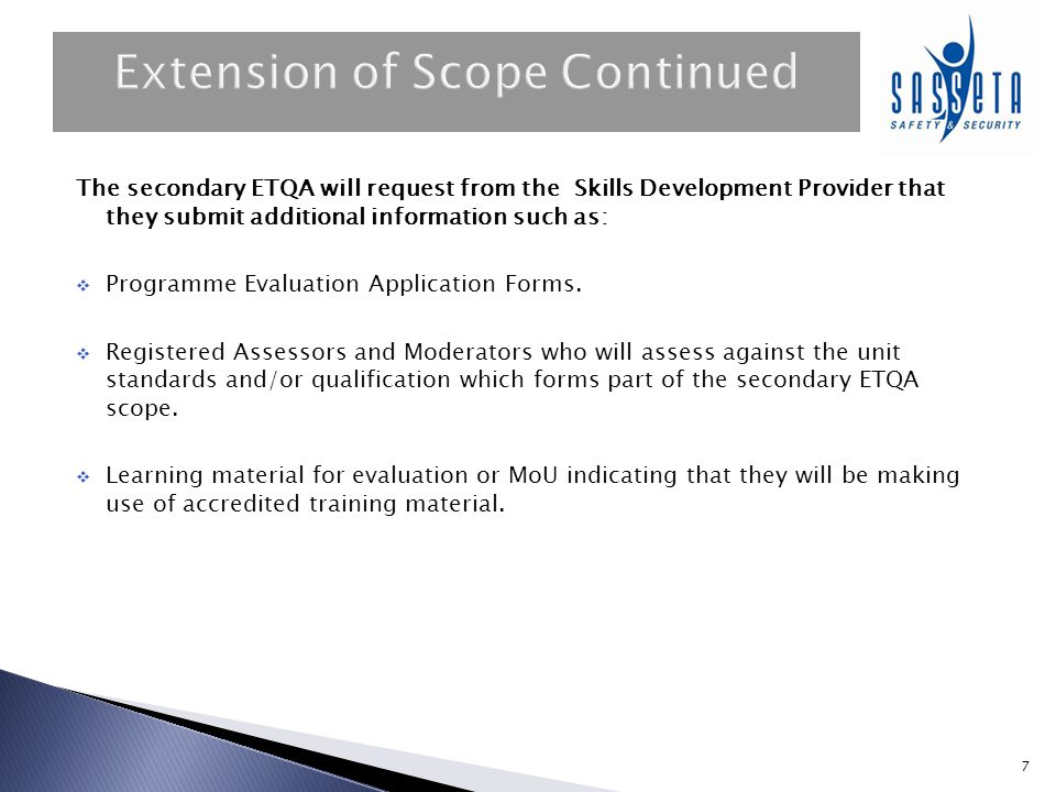 Extension of Scope Continued