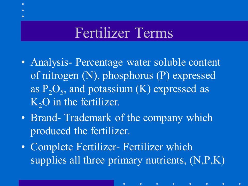 Fertilizer Terms