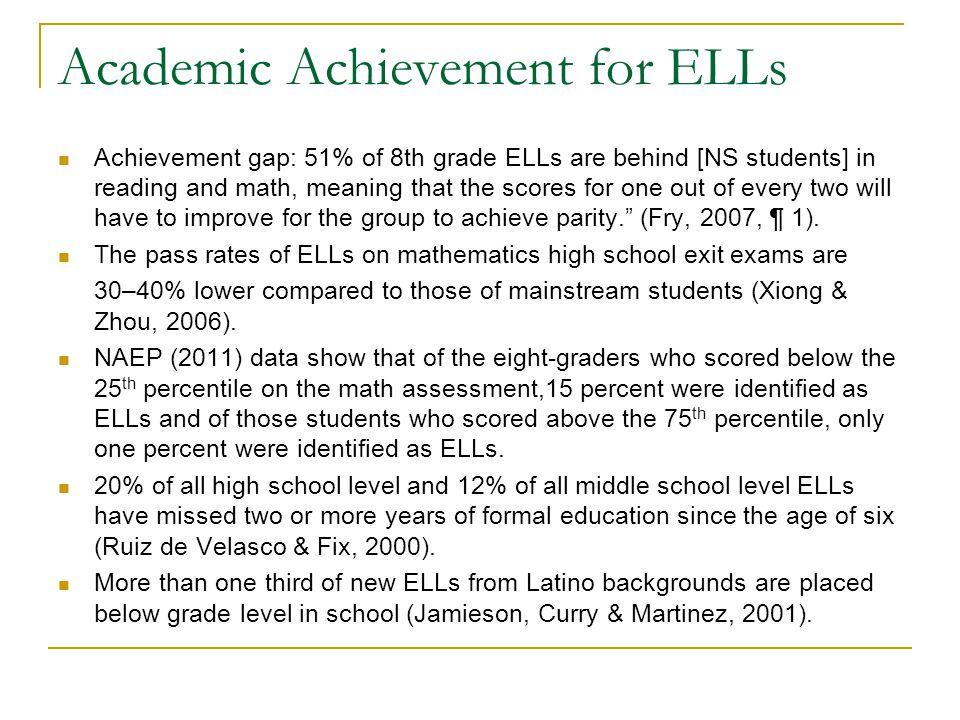 Academic Achievement for ELLs