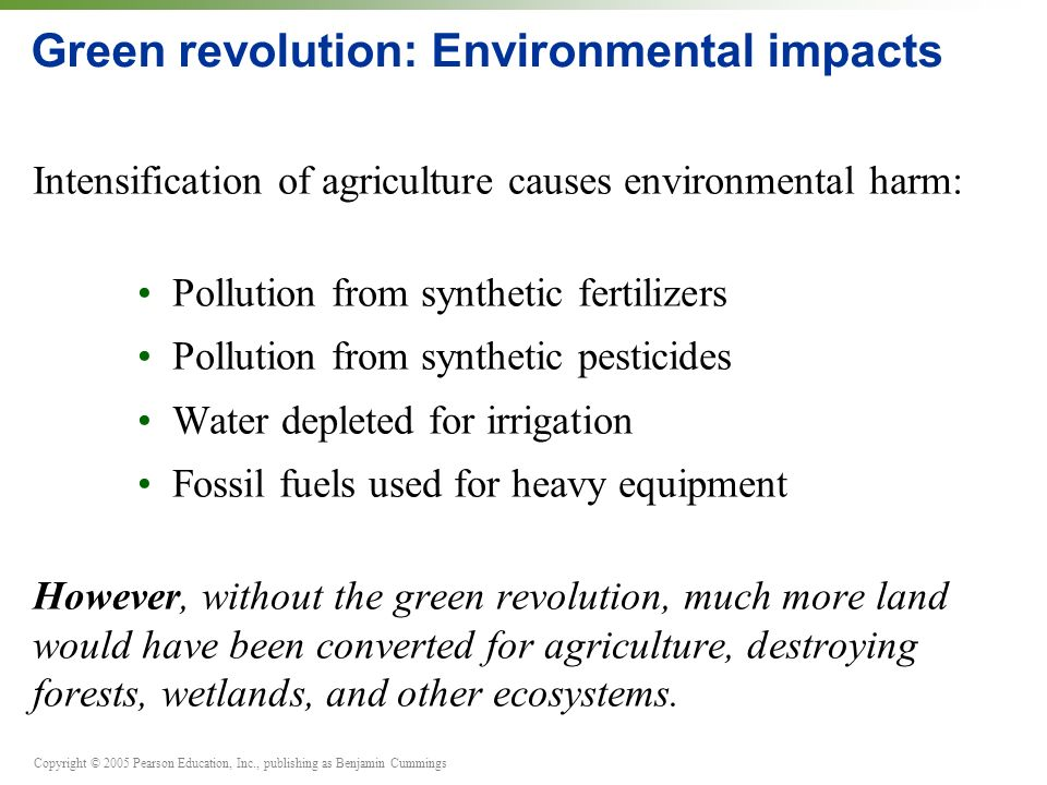 Green revolution: Environmental impacts
