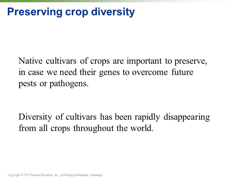 Preserving crop diversity