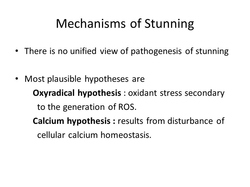Mechanisms of Stunning