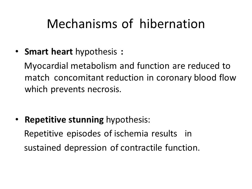 Mechanisms of hibernation