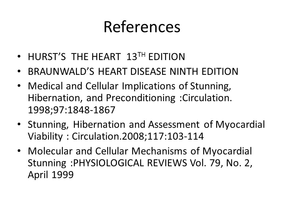 References HURST'S THE HEART 13TH EDITION