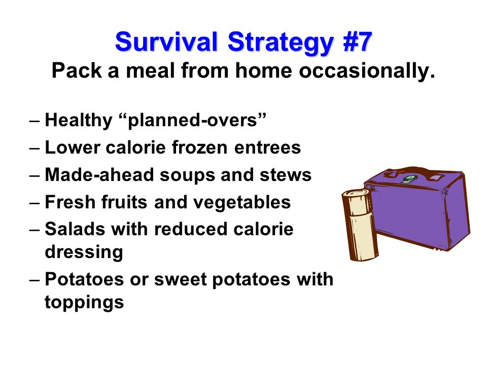 Survival Strategy #7 Pack a meal from home occasionally.