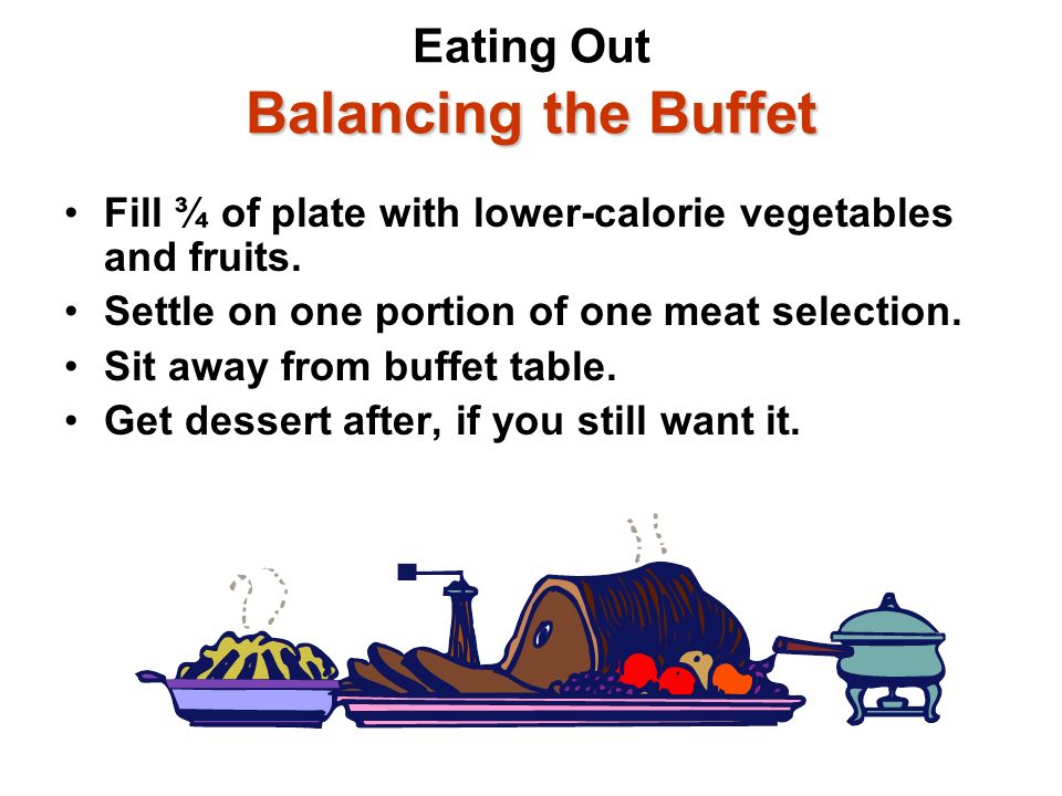 Eating Out Balancing the Buffet