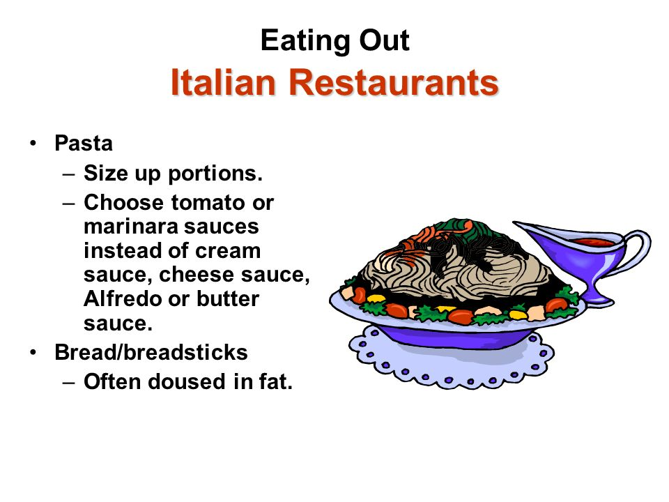 Eating Out Italian Restaurants