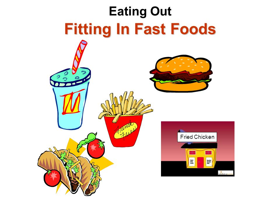 Eating Out Fitting In Fast Foods
