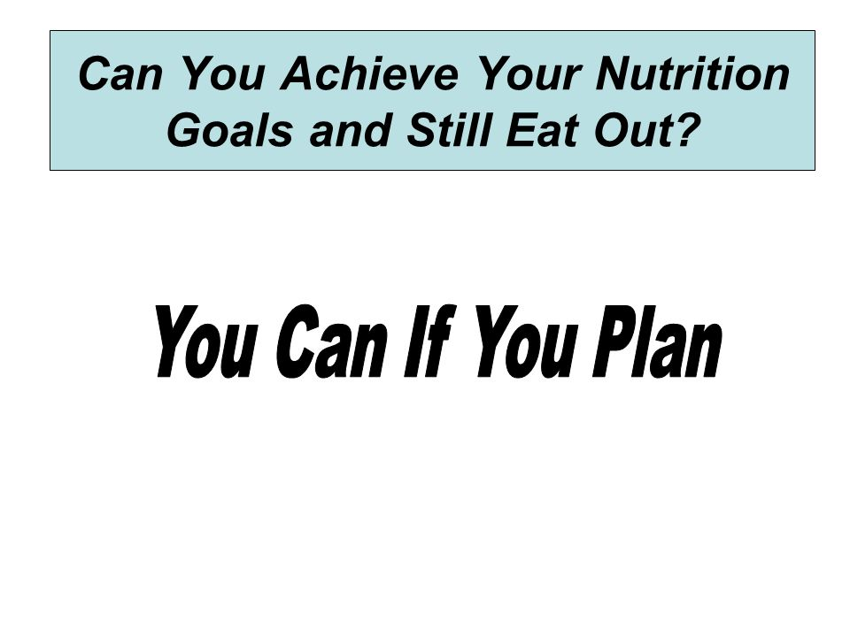 Can You Achieve Your Nutrition Goals and Still Eat Out