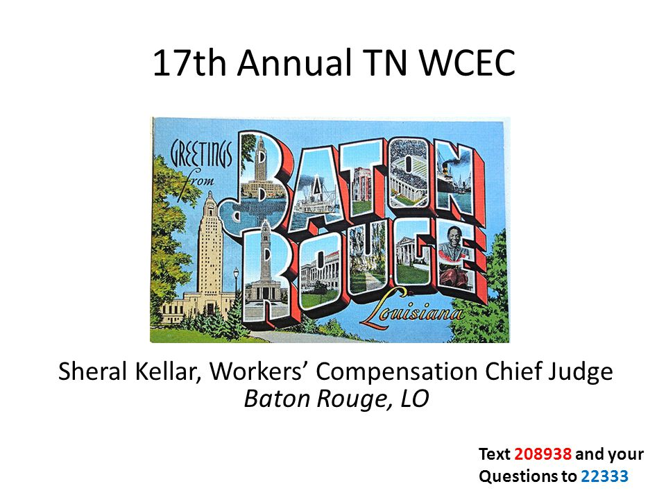Sheral Kellar, Workers' Compensation Chief Judge Baton Rouge, LO