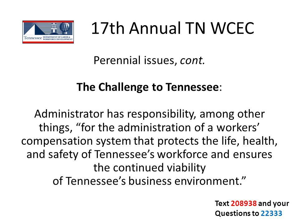 17th Annual TN WCEC