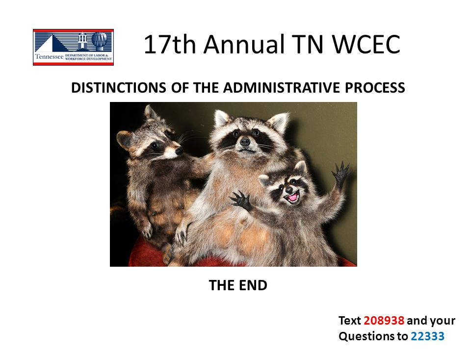 DISTINCTIONS OF THE ADMINISTRATIVE PROCESS THE END