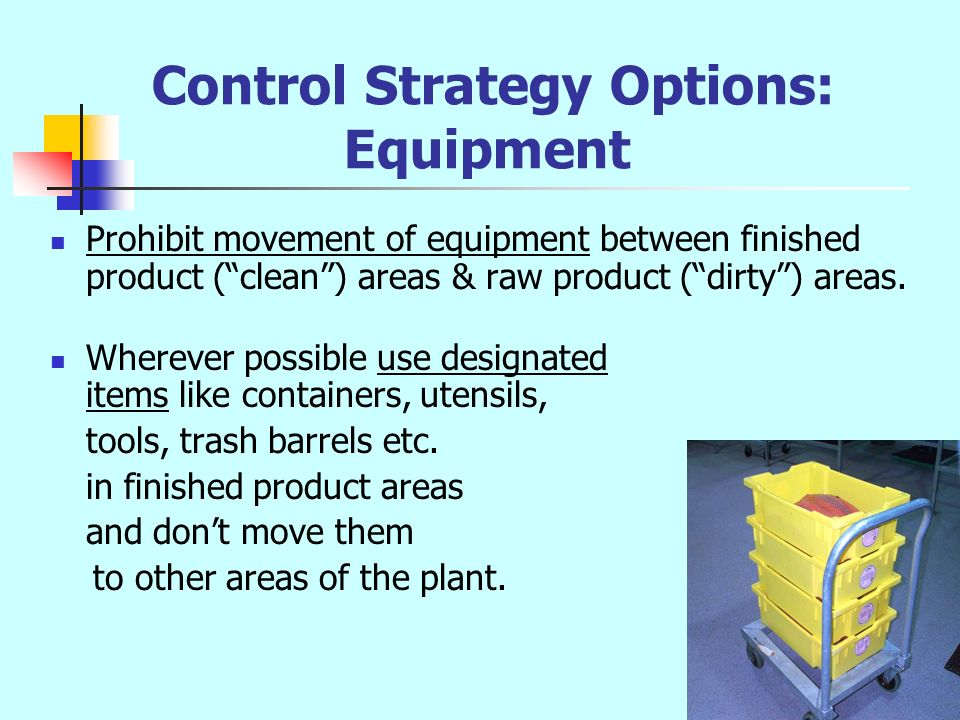 Control Strategy Options: Equipment