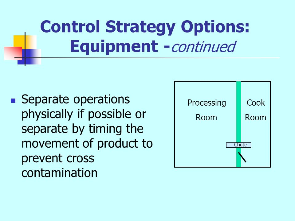 Control Strategy Options: Equipment -continued