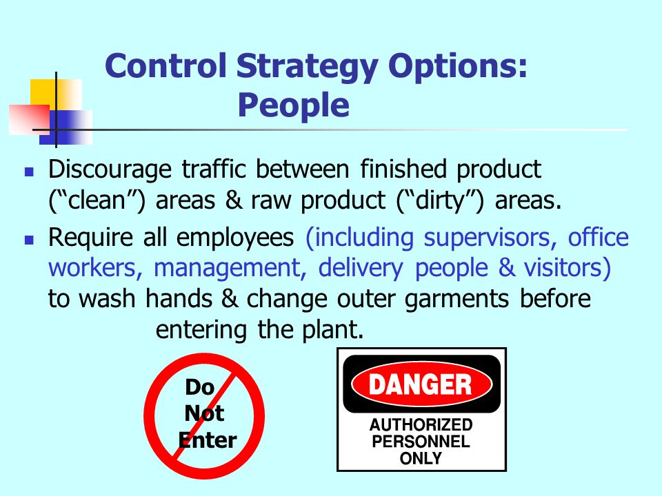 Control Strategy Options: People