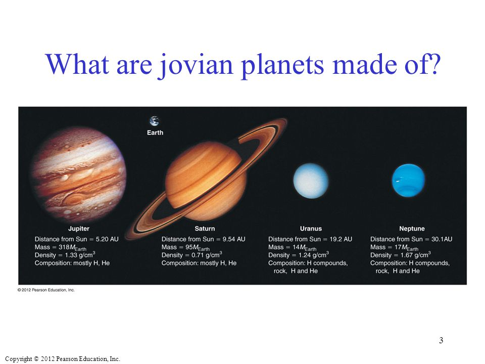 What are jovian planets made of