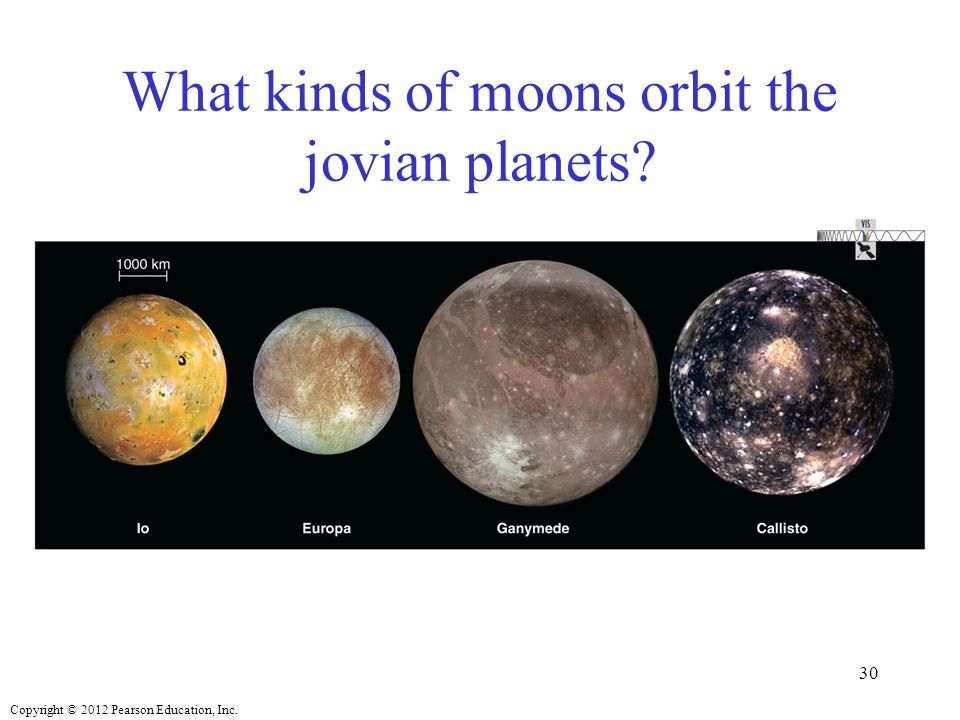 What kinds of moons orbit the jovian planets