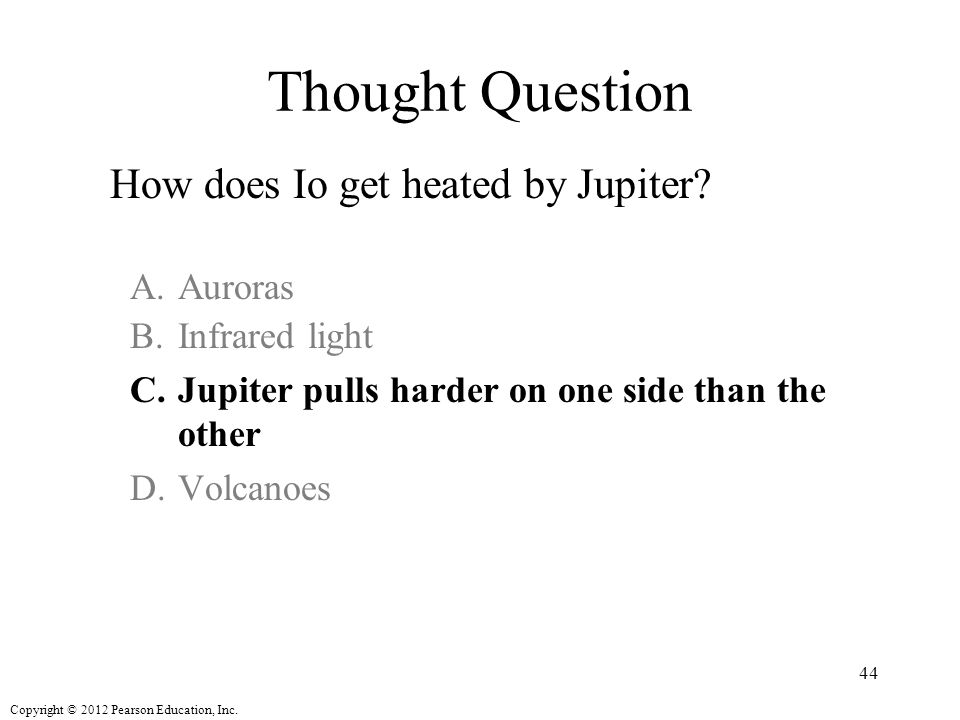 Thought Question How does Io get heated by Jupiter Auroras