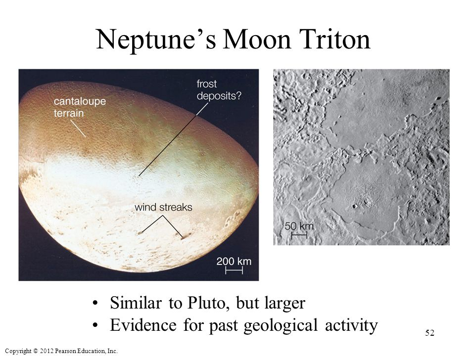 Neptune's Moon Triton Similar to Pluto, but larger
