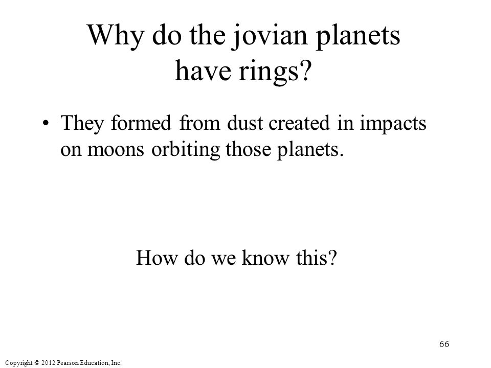 Why do the jovian planets have rings