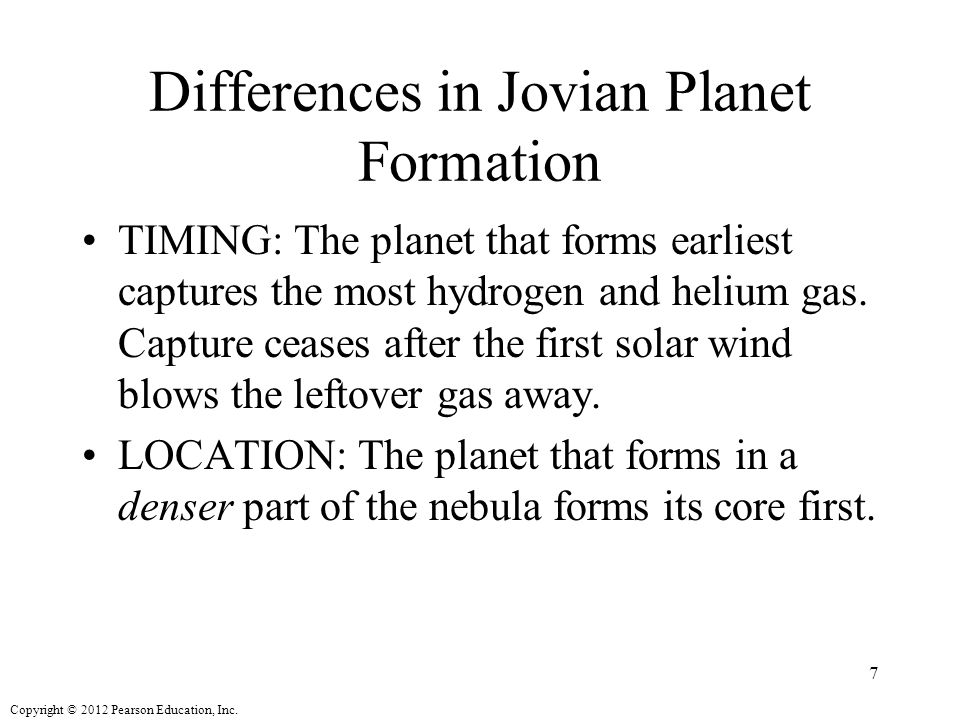 Differences in Jovian Planet Formation