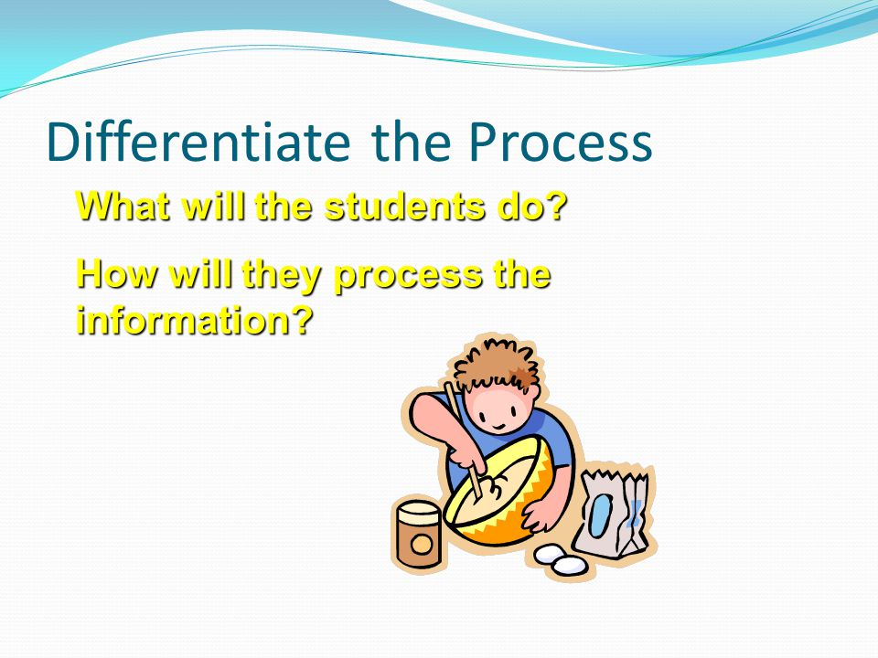 Differentiate the Process
