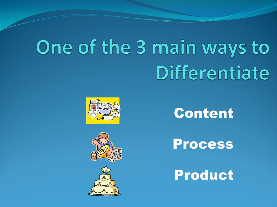 One of the 3 main ways to Differentiate