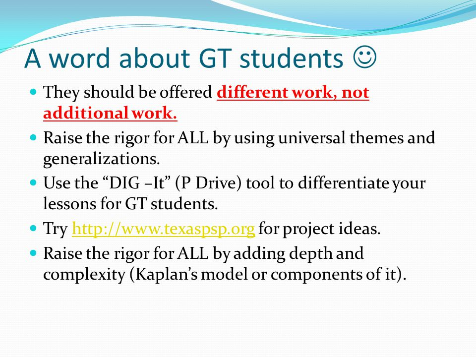 A word about GT students 