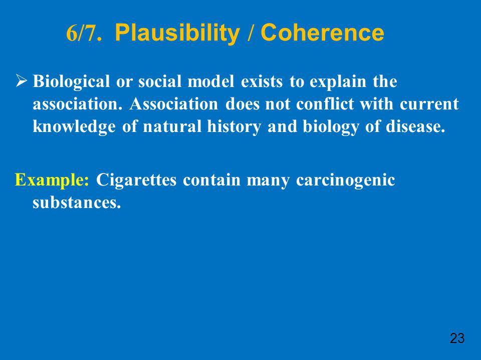 6/7. Plausibility / Coherence