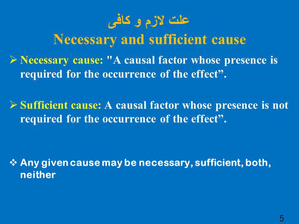 علت لازم و کافی Necessary and sufficient cause