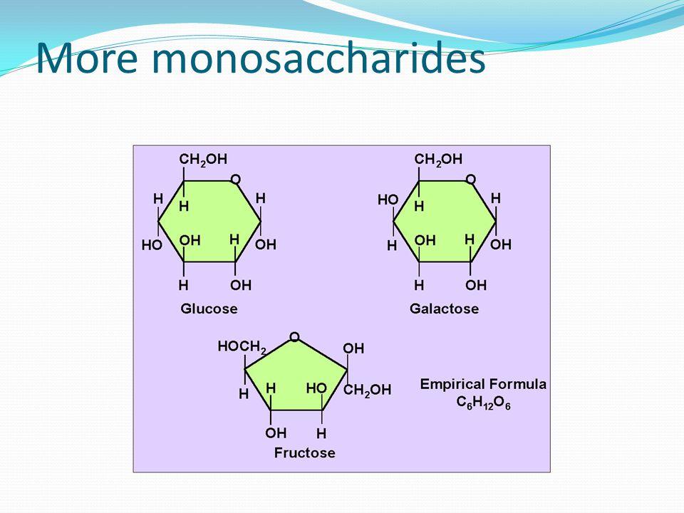 More monosaccharides