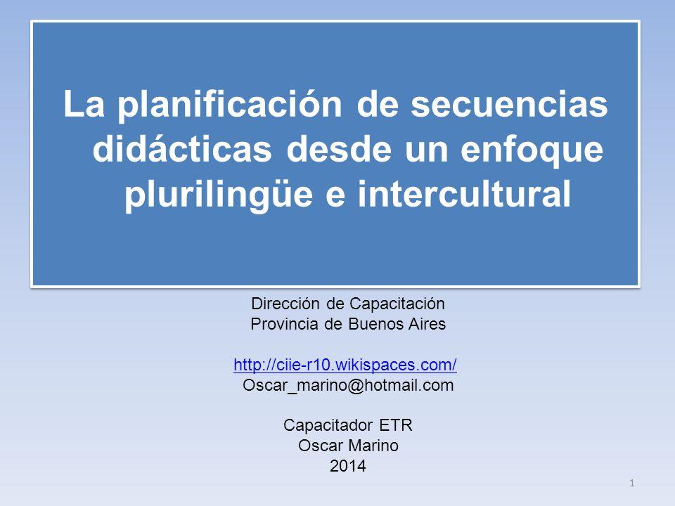 La planificación de secuencias didácticas desde un enfoque plurilingüe e intercultural